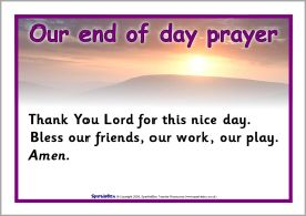 End of day prayer posters (SB1204) - SparkleBox | 3K