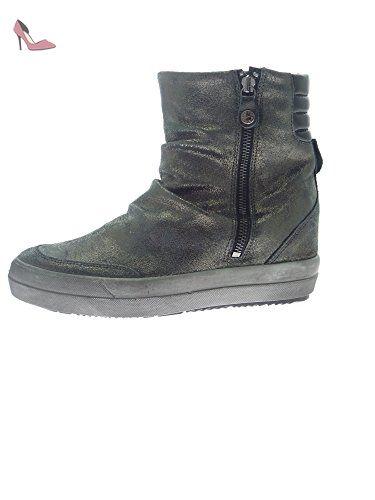 Chaussures amp;co Bottes Pour 39 Eu Femme Gris Anthracite Igi gUq88