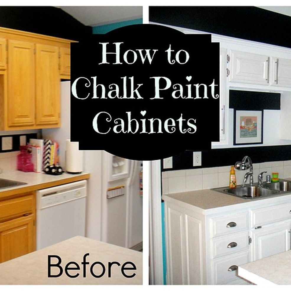 Chalk Paint On Kitchen Cabinets: How To Chalk Paint Cabinets