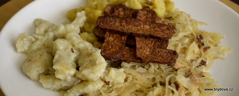 Photo of Gnocchi with cabbage and tempeh or tofu brydova.cz
