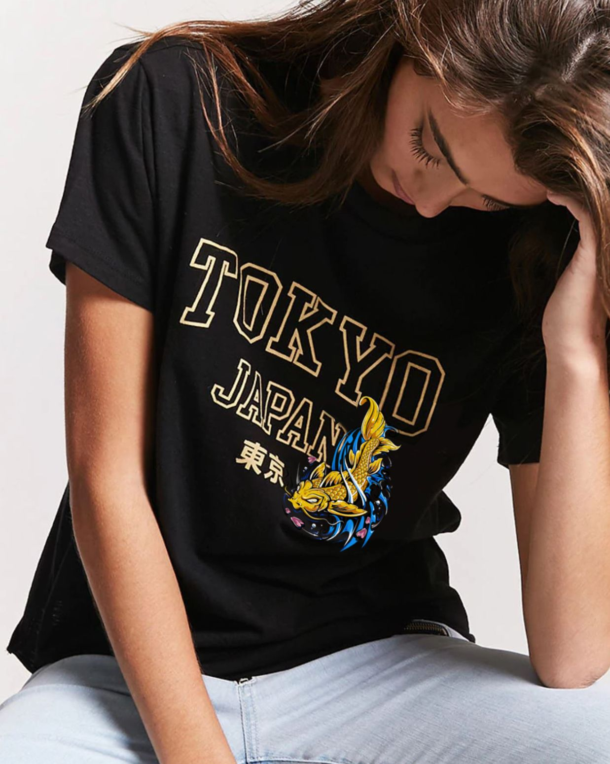 d13a5587c1 Love this Tokyo Japan tee shirt with this fierce looking koi fish ...