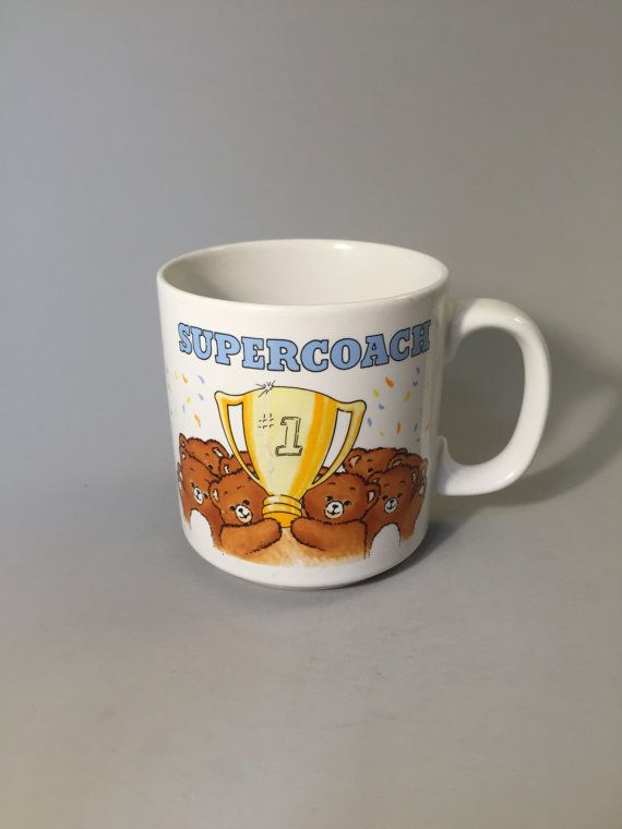 Super Coach Mug Vintage Mug For Coach Gift For Coach End Of Season Gift Vintage Gift For Coach Mug With Teddy Bear Vin Vintage Coffee Mugs Coffee Tastes Better