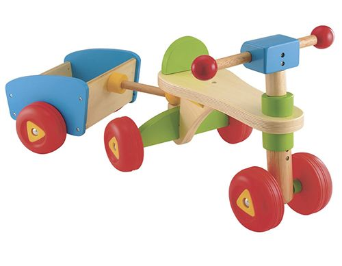 the early learning centre wooden trike and trailer in the. Black Bedroom Furniture Sets. Home Design Ideas