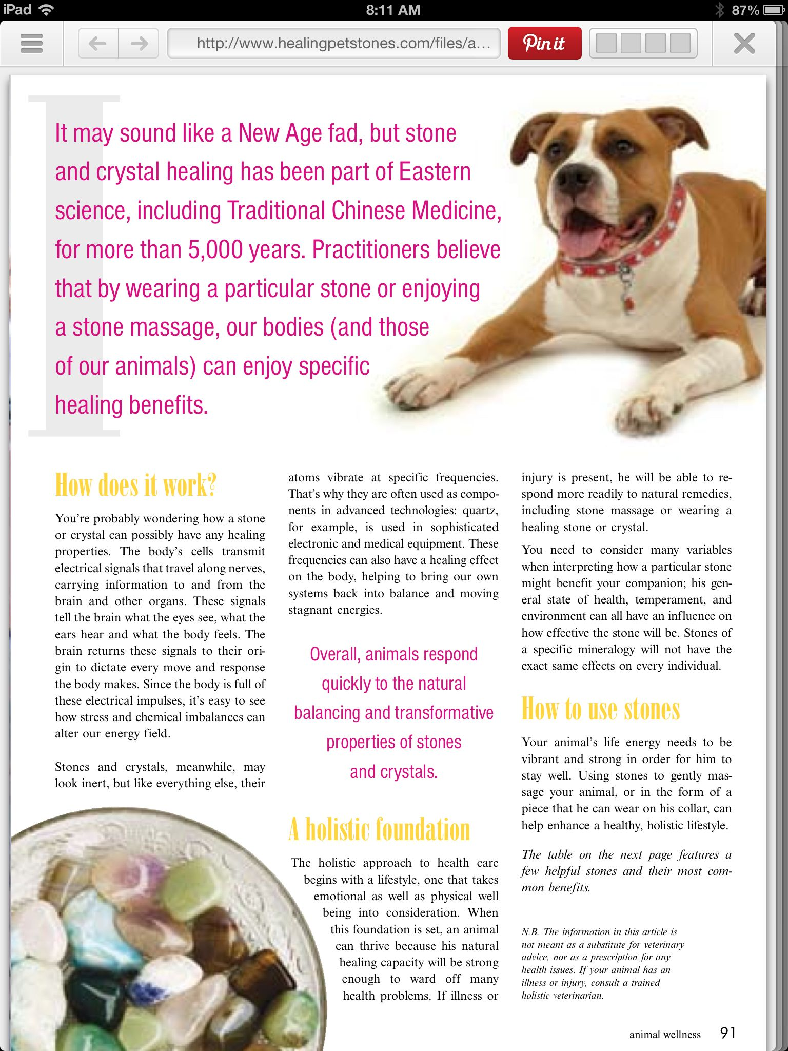 Healing stones for our pets!