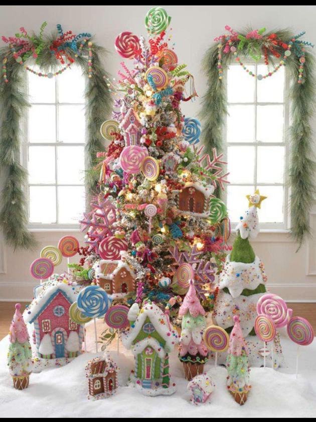 candyland christmaslove it whimsical christmas themed christmas trees - Candyland Christmas Tree Decorations
