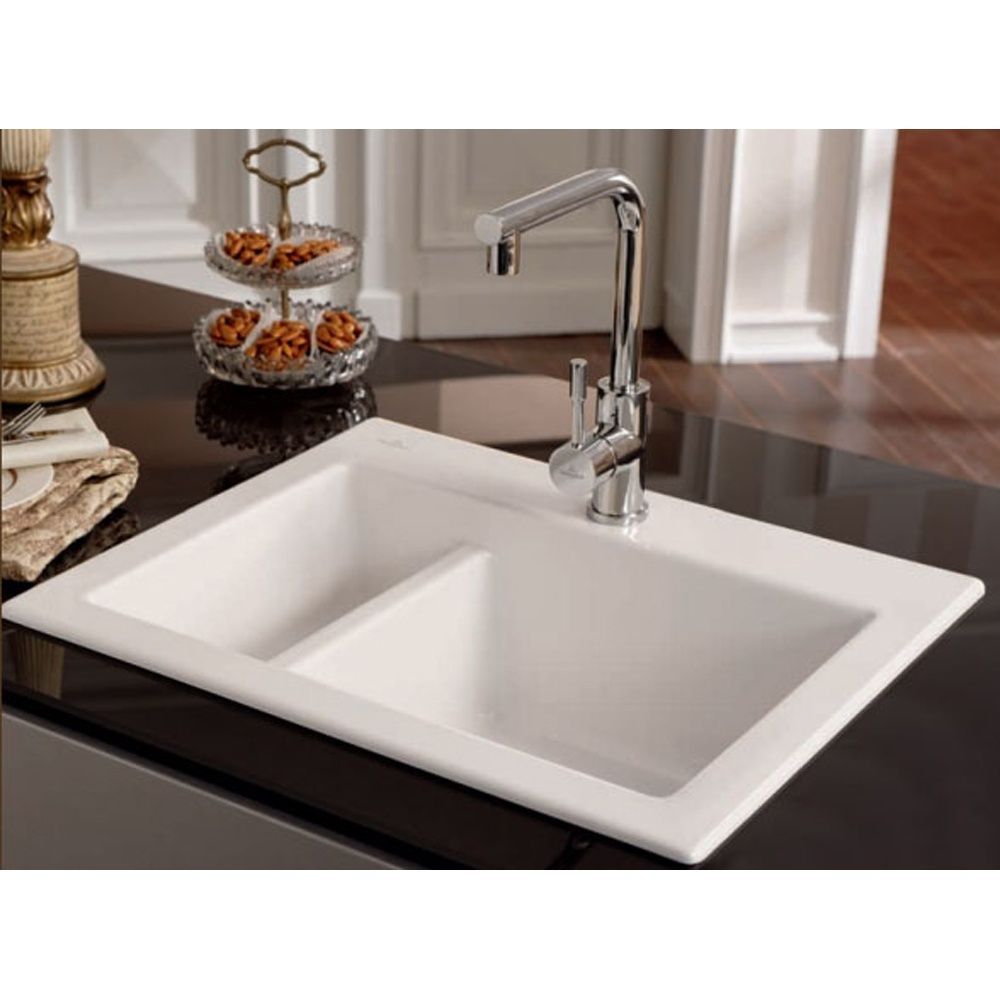 Villeroy & Boch Subway XM 1.5 Bowl White Ceramic Kitchen Sink ...