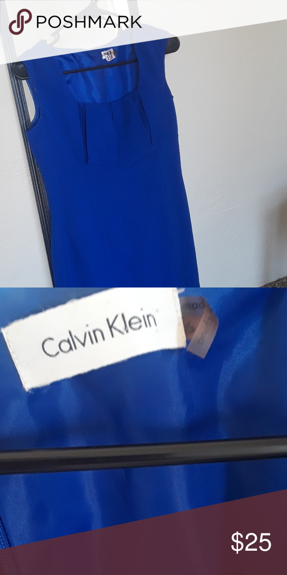Royal Blue Calvin Klein Dress This Is Amazing It S A Bright Color Filling Lined Does Need New Zipper Price Reflected For An As