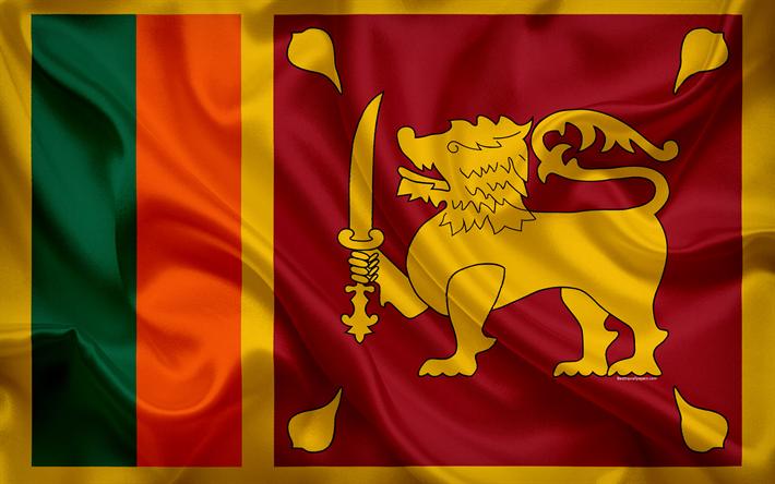 Download Wallpapers Flag Of Sri Lanka 4k Silk Flag National Symbol Sri Lanka Asia Besthqwallpapers Com Sri Lanka Flag National Symbols Sri Lanka