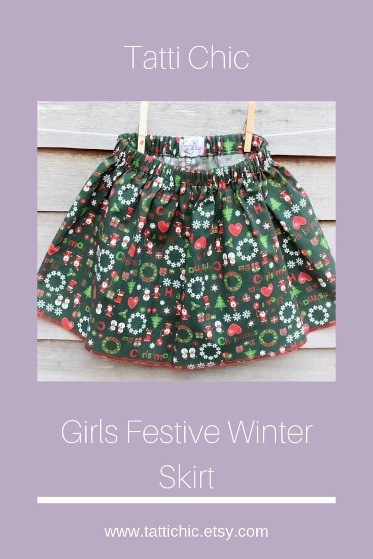 Handmade girls winter skirt