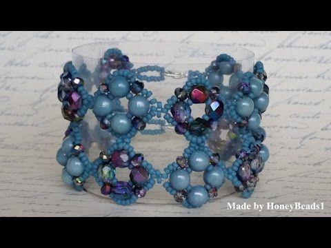 Best Seed Bead Jewelry  2017  Il Festival Di Trio Bracelet Beading Tutorial by HoneyBeads1