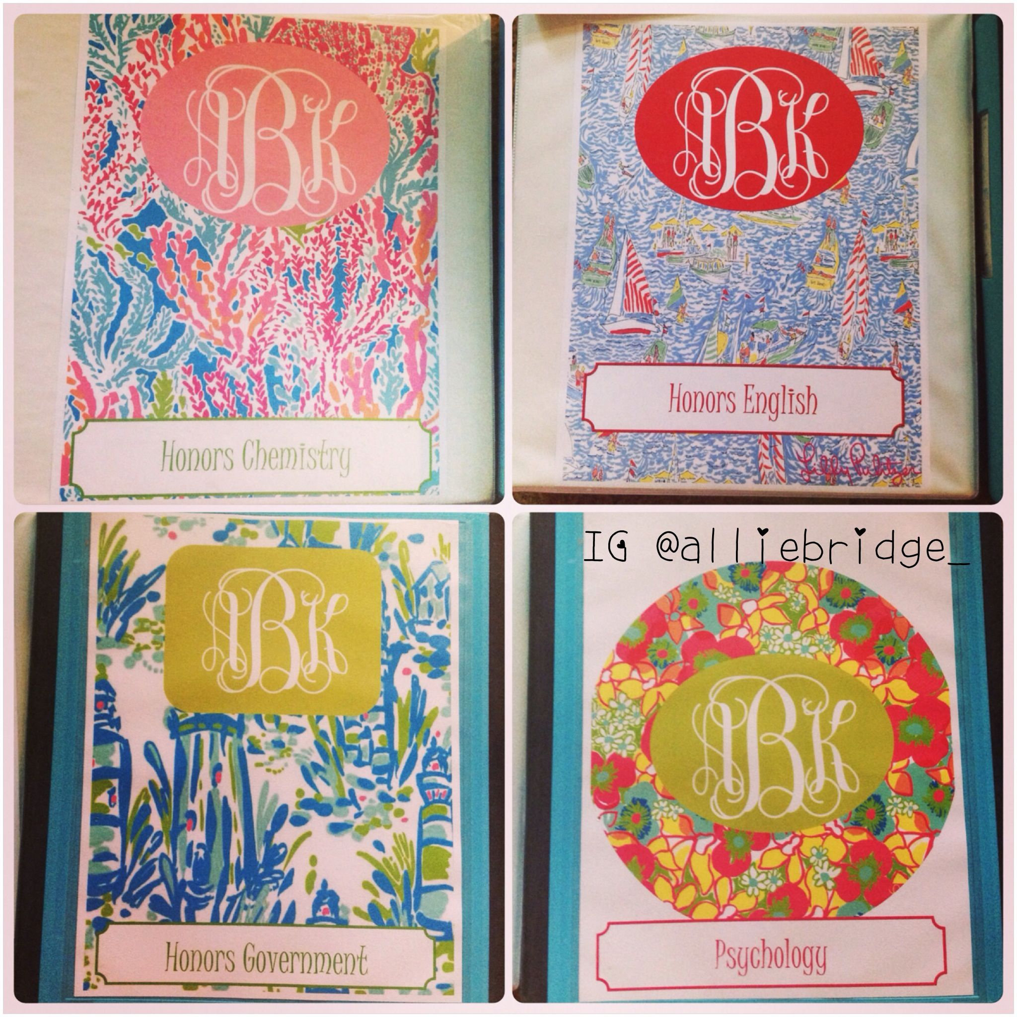 Lilly Pulitzer Monogram Binder Covers I Made (With Images