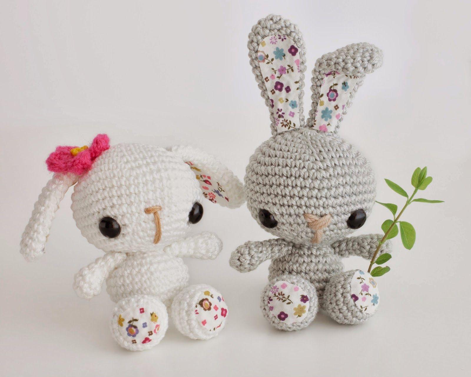 Amigurumi conejitos de primavera (enlace a patrón) | Crochet ...