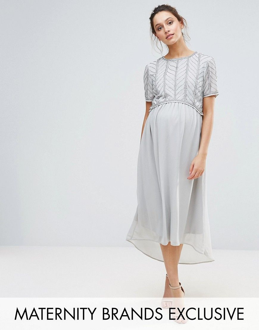 Get This Maya Maternityu0027s Midi Dress Now! Click For More Details. Worldwide  Shipping.