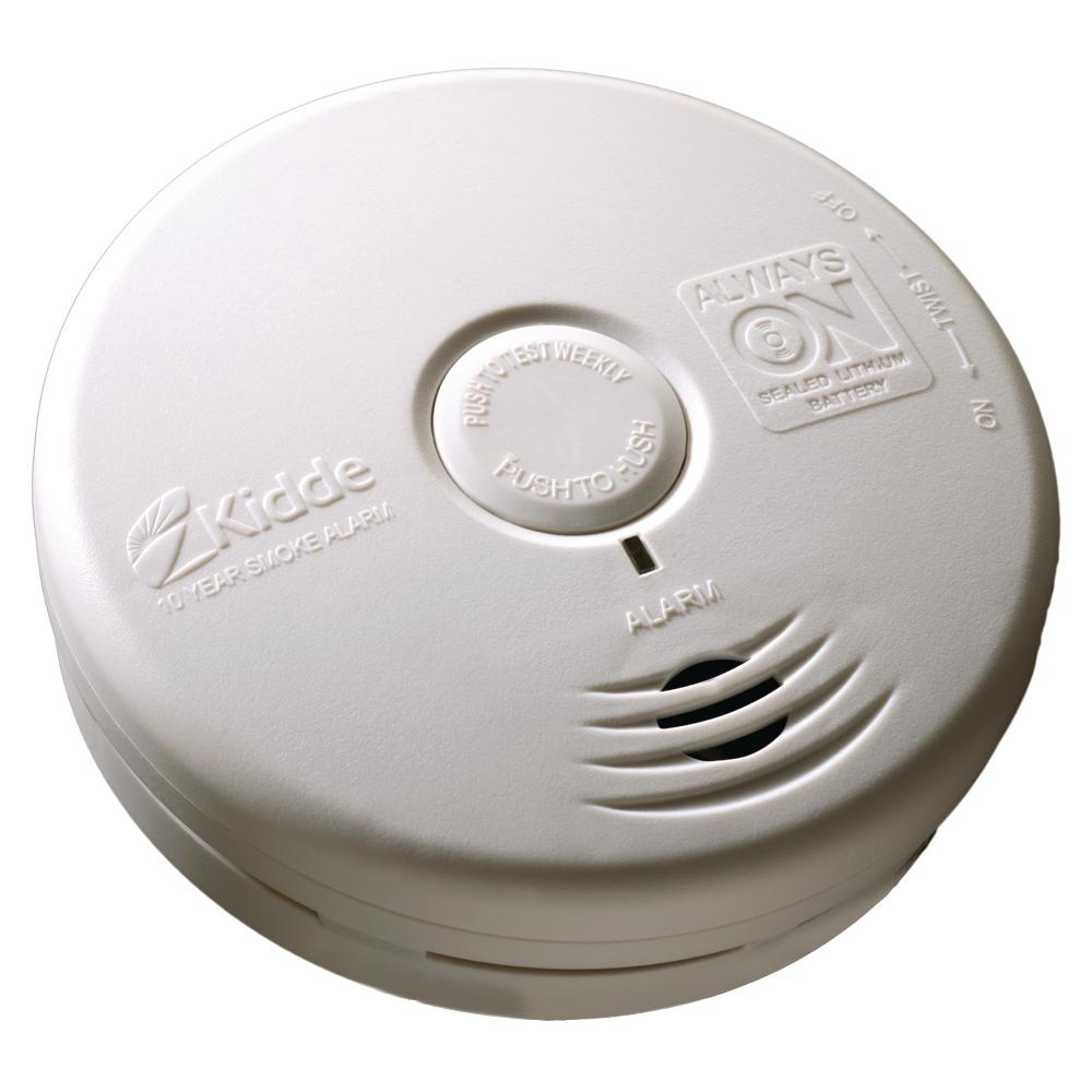 Kidde 10 Year Sealed Battery Smoke Detector With Photoelectric Sensor 21026058 Smoke Alarms Carbon Monoxide Alarms Photoelectric Sensor