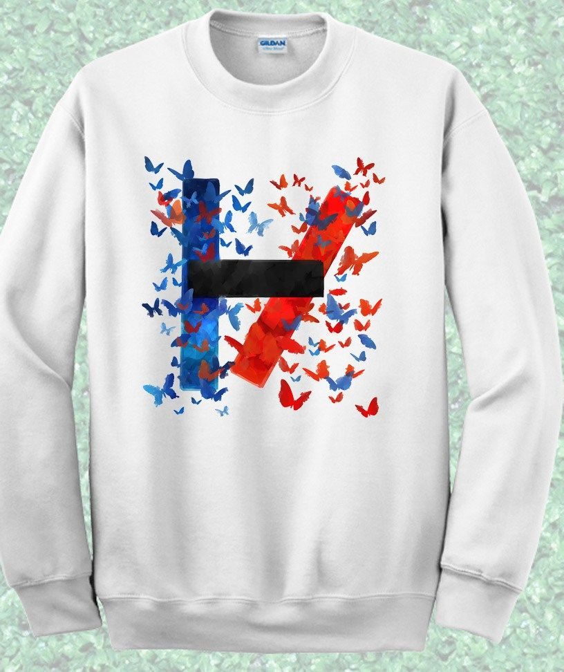 Butterfly Twenty One Pilots Symbol Crewneck Sweatshirt
