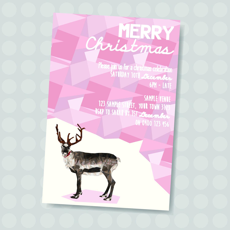 Christmas Reindeer Invitation || Downloadable Invitation || Printable JPG/PDF