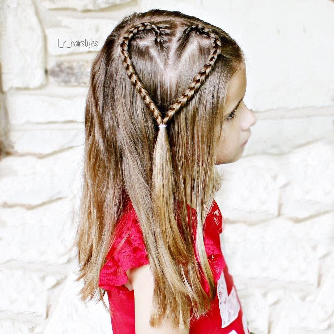 Heart lace braid simple and cute littlegirlhair