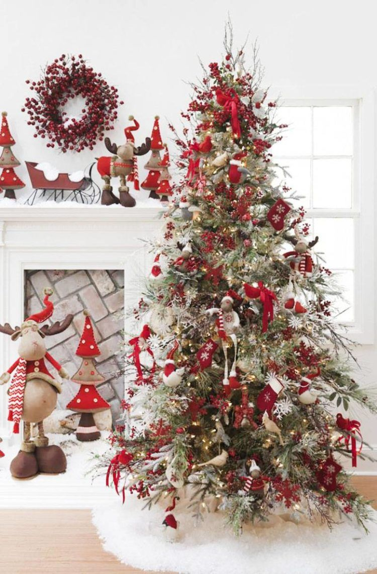 13 Amazingly Beautiful Christmas Tree Decorating Ideas Whatever Is Lovely By Lynne G Caine Christmas Tree Inspiration Modern Christmas Tree Inspiration Outdoor Christmas Lights