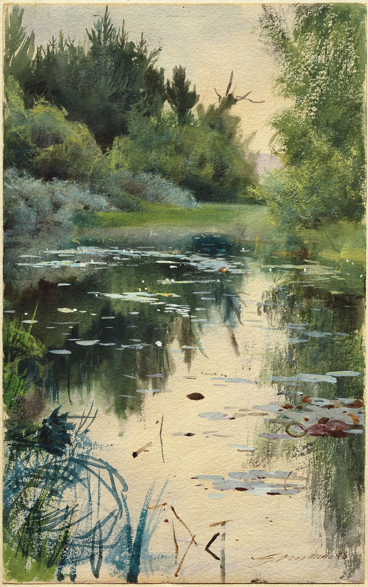 Pin By Anna L Conti On Other Works On Paper Landscape Paintings Landscape Art Watercolor Landscape