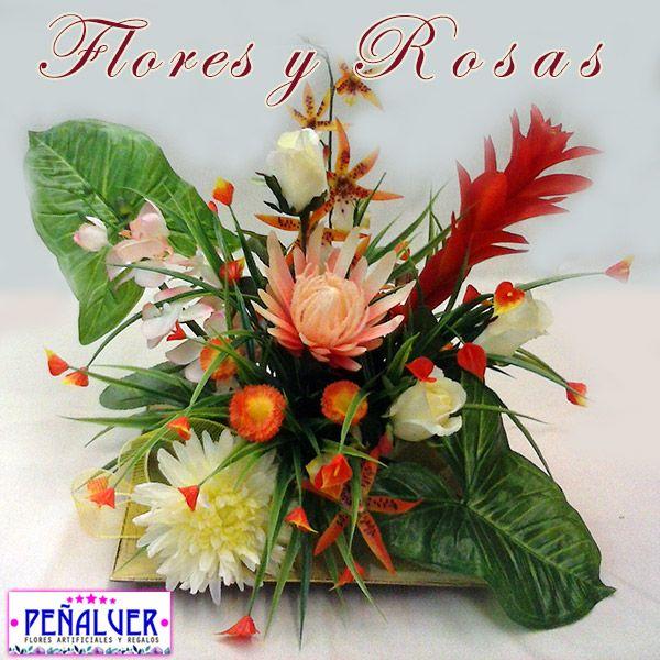 Flores exóticas - RF00457 Centros de flores artificiales para