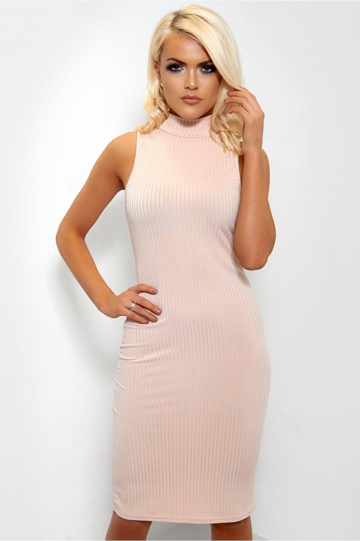Akira black label Lovesick Hot Pink Bodycon Midi Dress in
