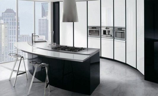Trendy-kitchen-design-ideas-in-black-and-white-3 - Easy Decor | bags ...