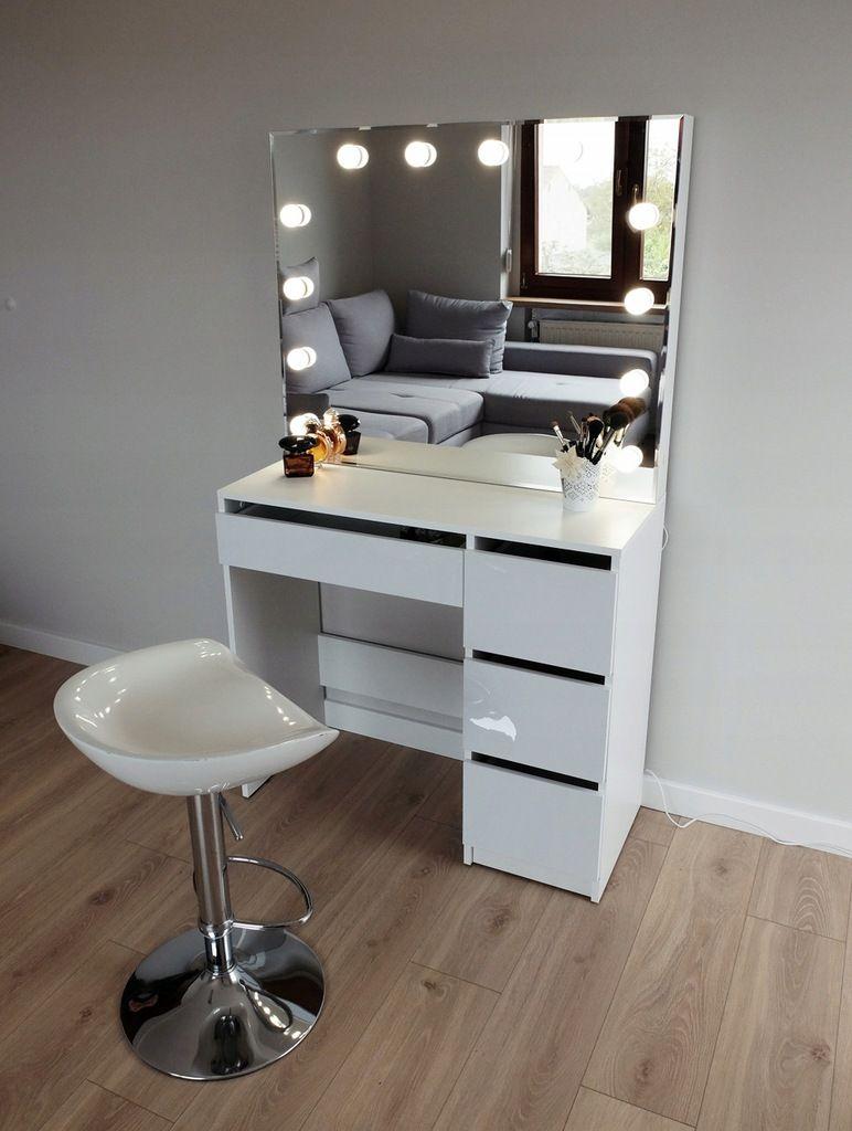 Toaletka Do Makijazu Wizazu Z Oswietleniem Lustro Room Ideas Bedroom Dream Rooms Home Decor