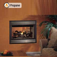 Lennox Mpd35st Pm Propane 35 Merit Plus Direct Vent Gas Fireplaces Top Rear Combo See Through Direct Vent Gas Fireplace Gas Fireplace Fireplace