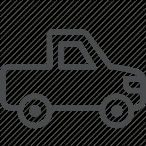 Pickup Truck Automobile Car Transportation Vehicle Icon Download On Iconfinder Automobile Transportation Trucks