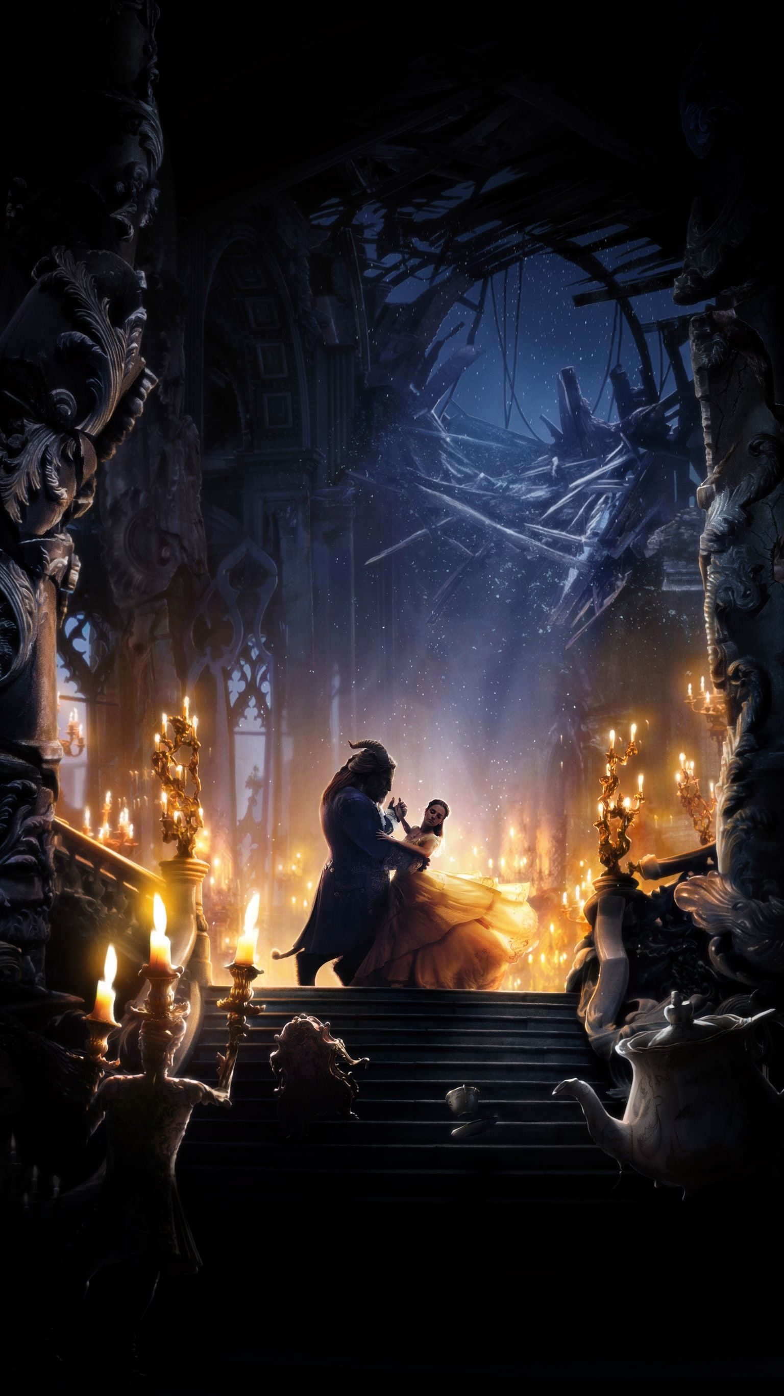 Beauty And The Beast 2017 Phone Wallpaper In 2019 Beast