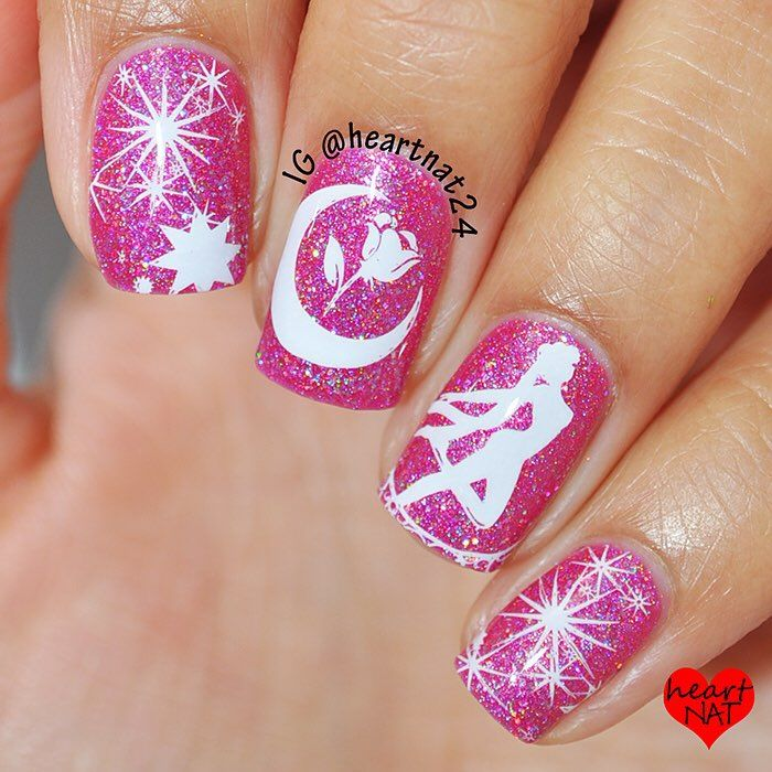 heartnat24 - Base color Glam Polish (Bohemian Rhapsody) stamped ...