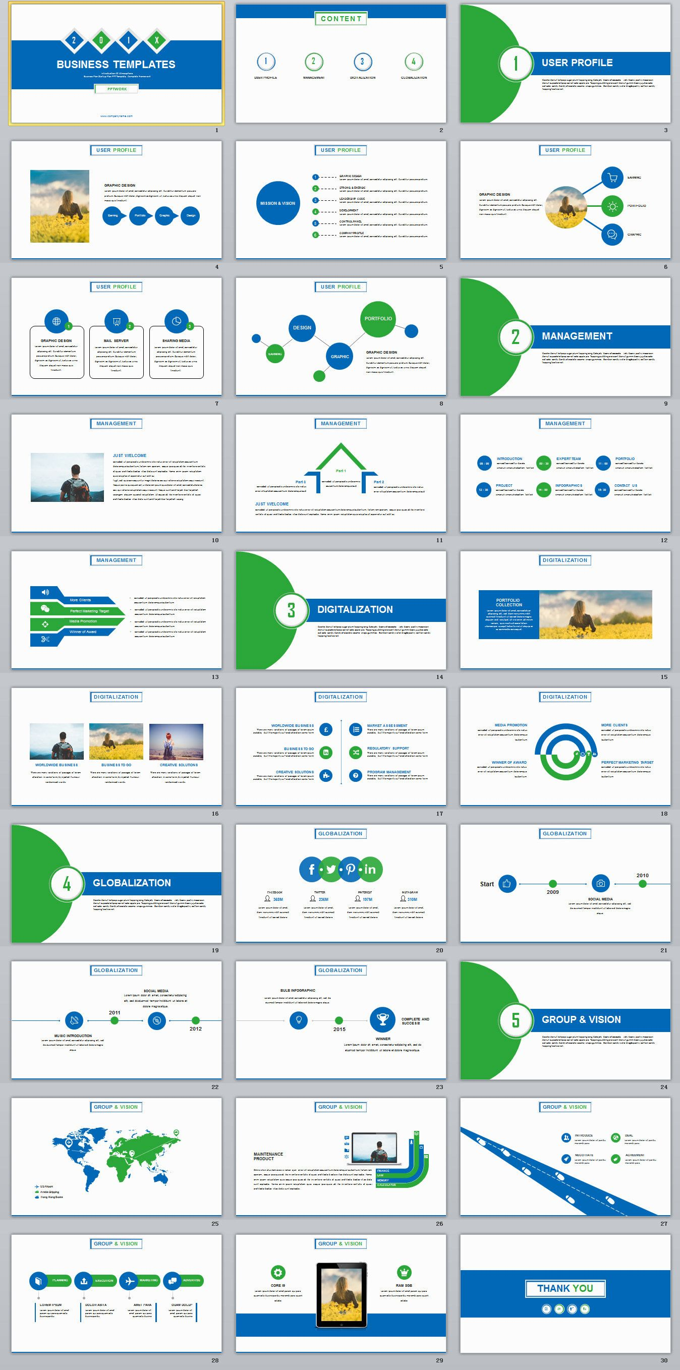 30 business annual report powerpoint templates on behance