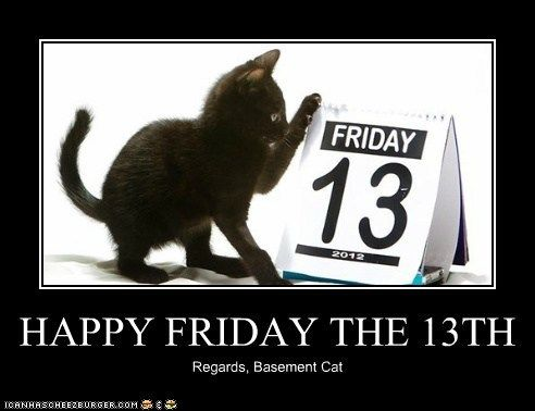 874cddc5eb52355314b00005b14e6898 happy friday the 13th! lolcats funny pictures of cats i can