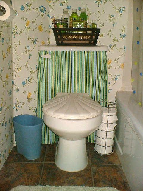 How To Make A Toilet Tank Skirt Toilet Tank Toilet Toilet Bombs