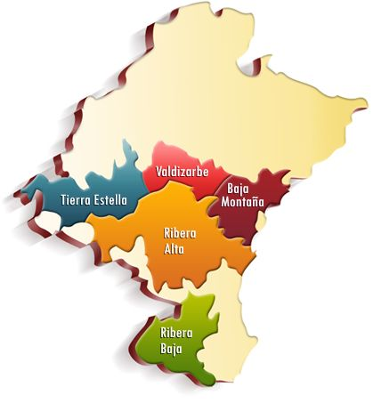 Mapa Zonas Navarra Mapas Bodegas