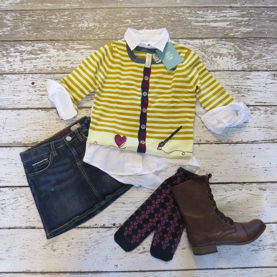 How to style your tween. Old Gold Cardigan $50, sizes 8-14. View ...
