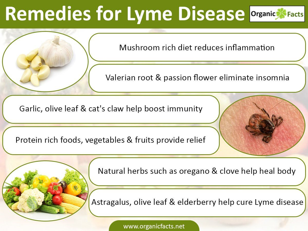 The home remedies for Lyme disease include the use of herbs