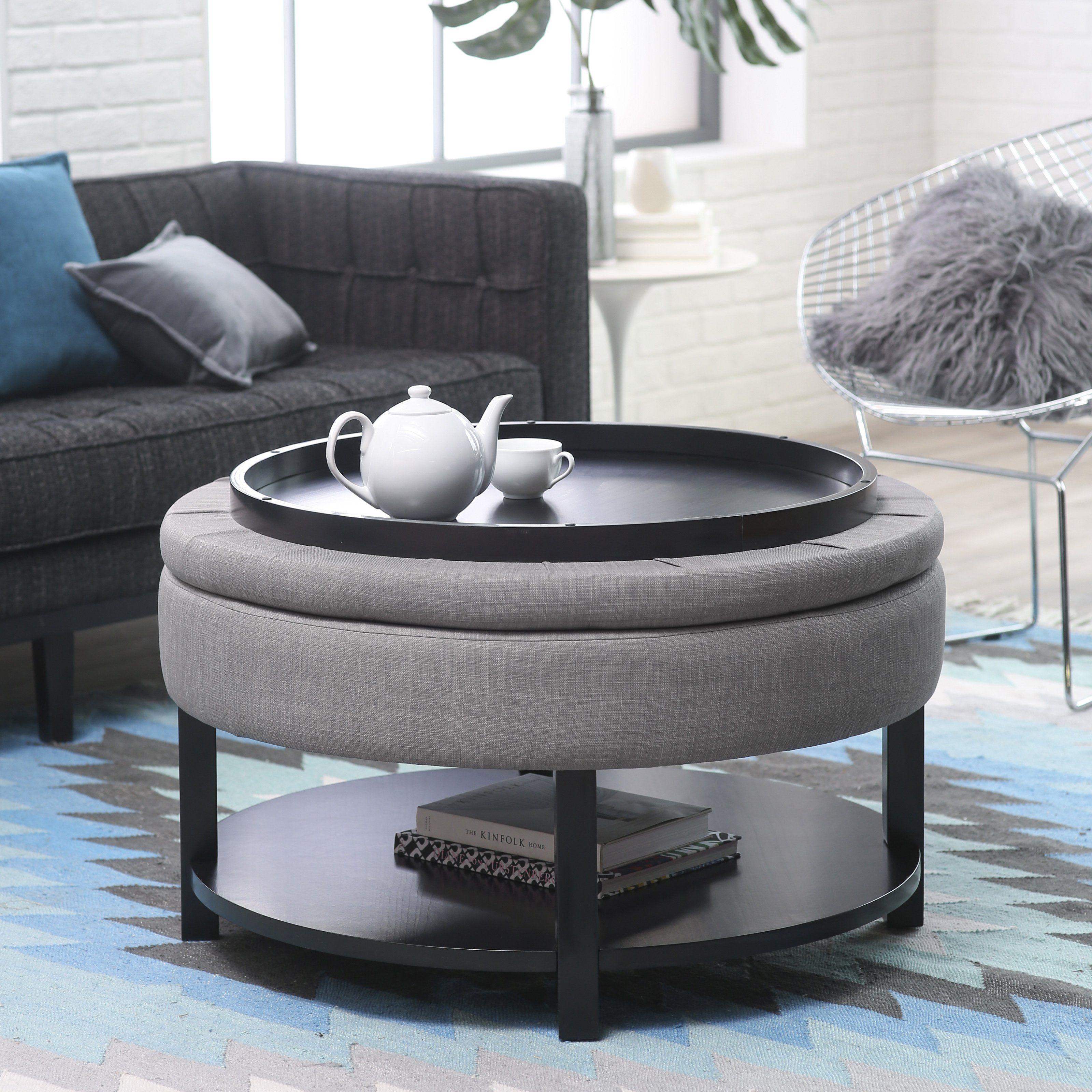 Amazing grey ottoman coffee table schreibtisch three of