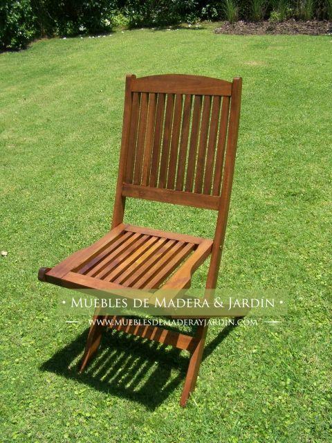 Sillas de jardin de madera sillas sillas plegables - Sillas madera jardin ...
