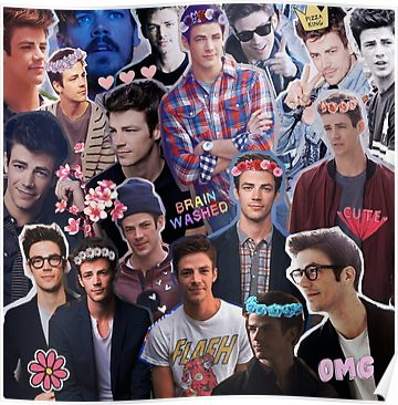 'Grant Gustin Collage' Poster by luxvida