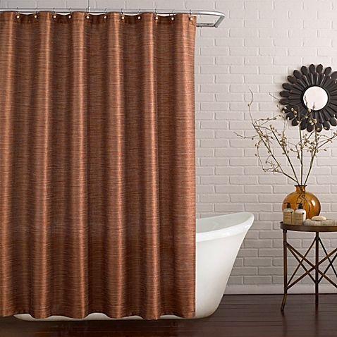 Deron Shower Curtain In Vermillion Fabric Shower Curtains Gold Shower Curtain Long Shower Curtains