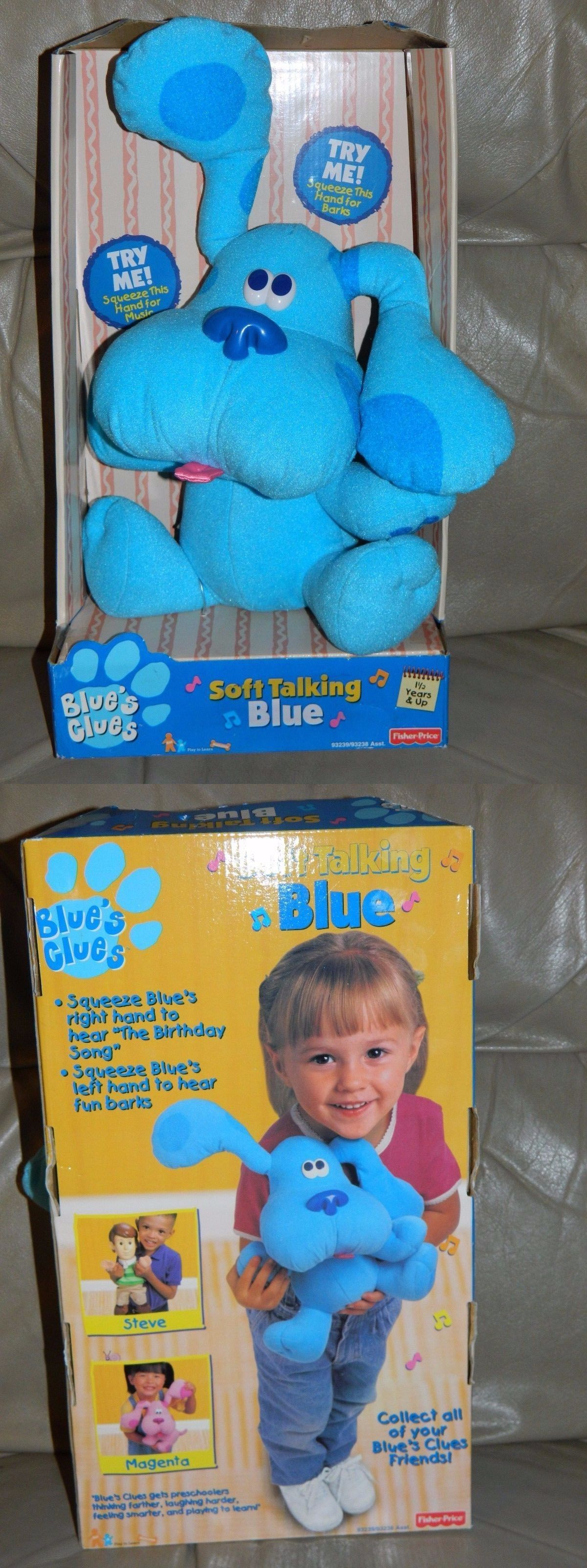 blues clues 2626 new n box fisher price blue s clues soft talking