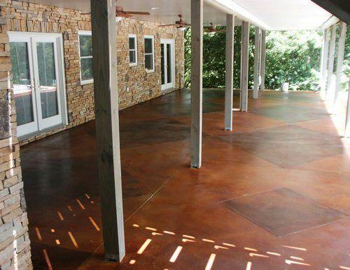 acid stained concrete httpwwwluxuryhousingtrendscomwp content - Patio Concrete Stain Ideas