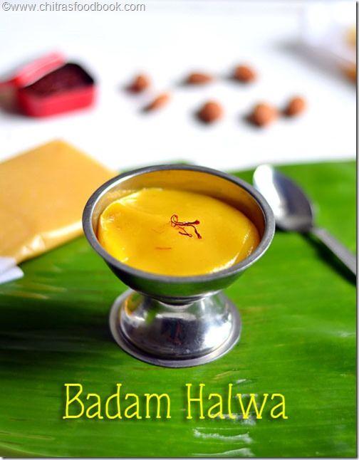 Badam halwa recipe indian dessert recipes indian desserts and badam halwaalmond halwa rich n delicious indian dessert recipe for diwali celebration forumfinder Gallery