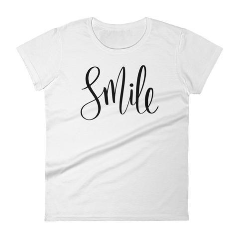 Smile - Inspirational women's short sleeve t-shirt