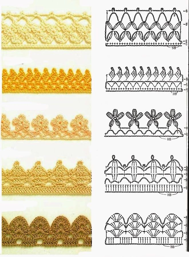 Crochet patterns for edging | Croche - gráficos | Pinterest | Puntos ...