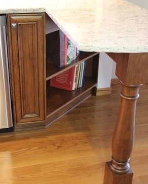 An Angled Base Cabinet Is Open For A #bookshelf Area In This Moline, IL