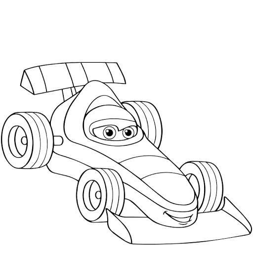 Mewarnai Gambar Mobil Racing Gambar Warna