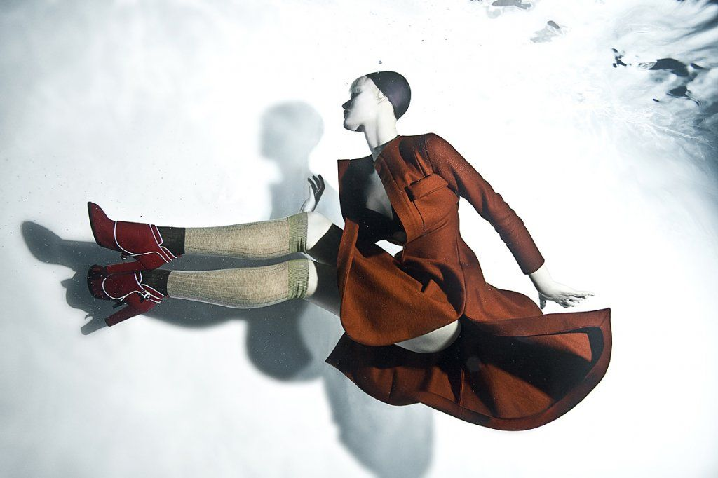 "Underwater photographer Zena Holloway's latest work ""Frozen"" (Jeager AW12 campaign)"