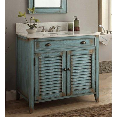 Highland Dunes Gertrud 36 Single Bathroom Vanity Set Wayfair Shabby Chic Bathroom Vanity Rustic Bathroom Vanities Blue Bathroom Vanity
